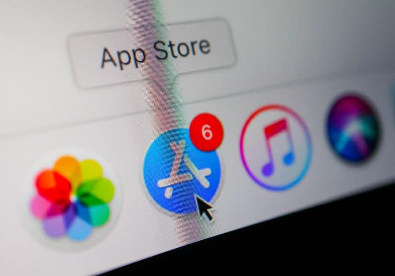 Ícone da Mac App Store em Dock do macOS