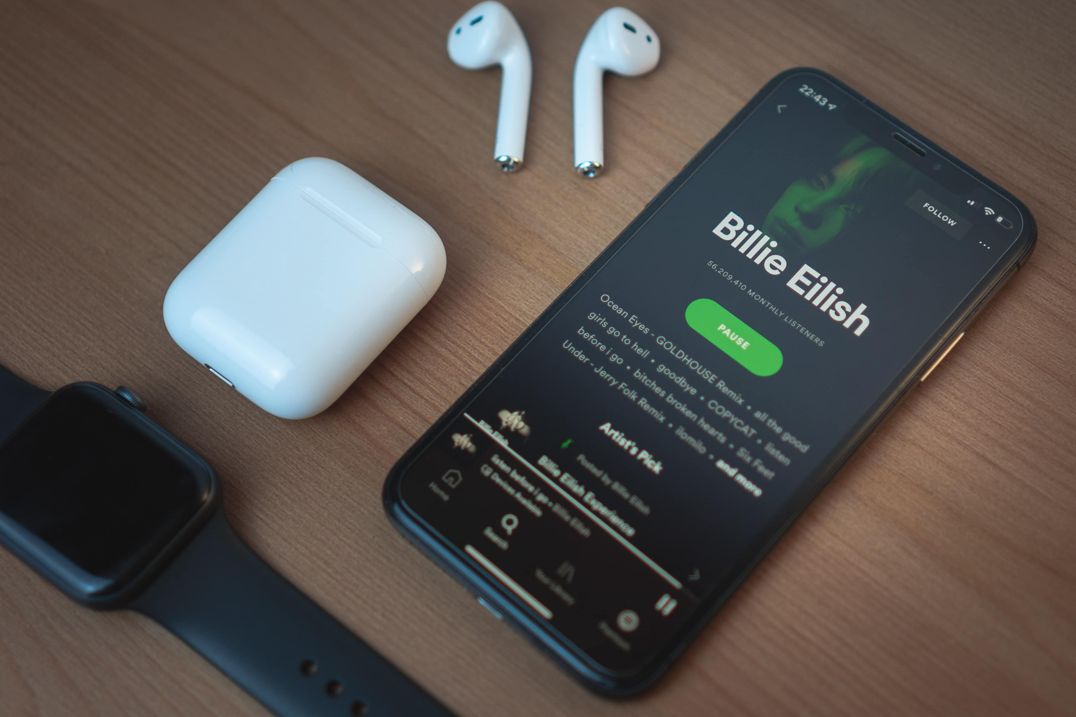 Spotify, AirPods e Apple Watch