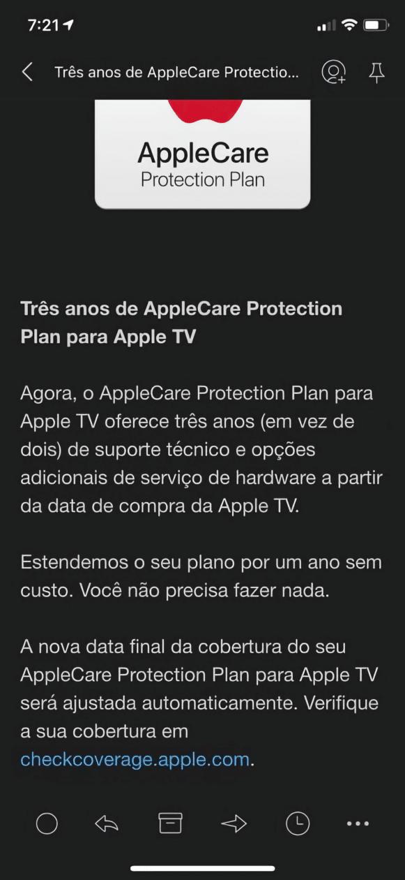 AppleCare Protection Plan do Apple TV