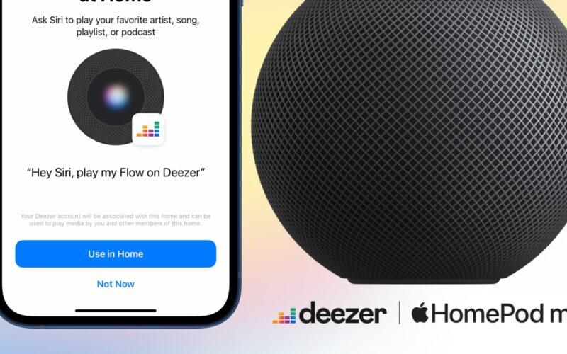 HomePod e Deezer