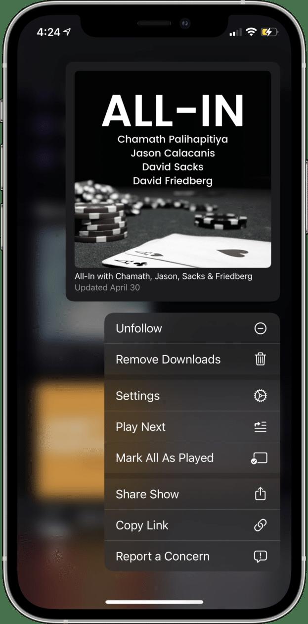 App Podcasts no iOS 14.6 beta 3
