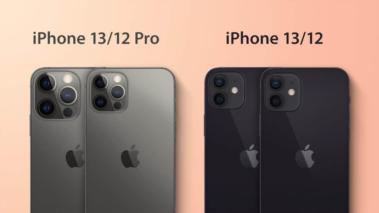 """Diferença nos módulos de câmera entre os iPhones 12 e """"iPhones 13"""""""