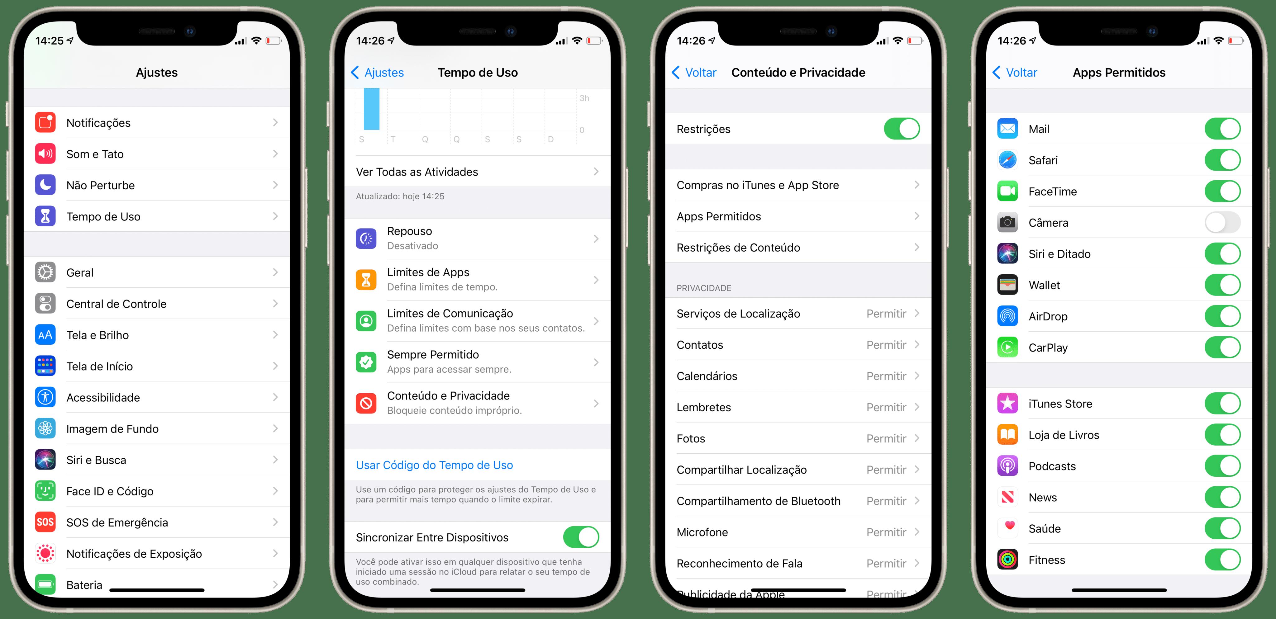 Desativando o acesso à câmera na tela bloqueada do iPhone