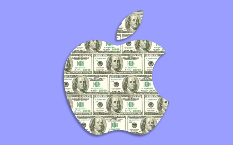 Logo da Apple em dólar