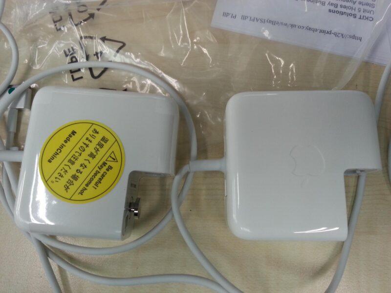 Carregador falsificado de MacBook