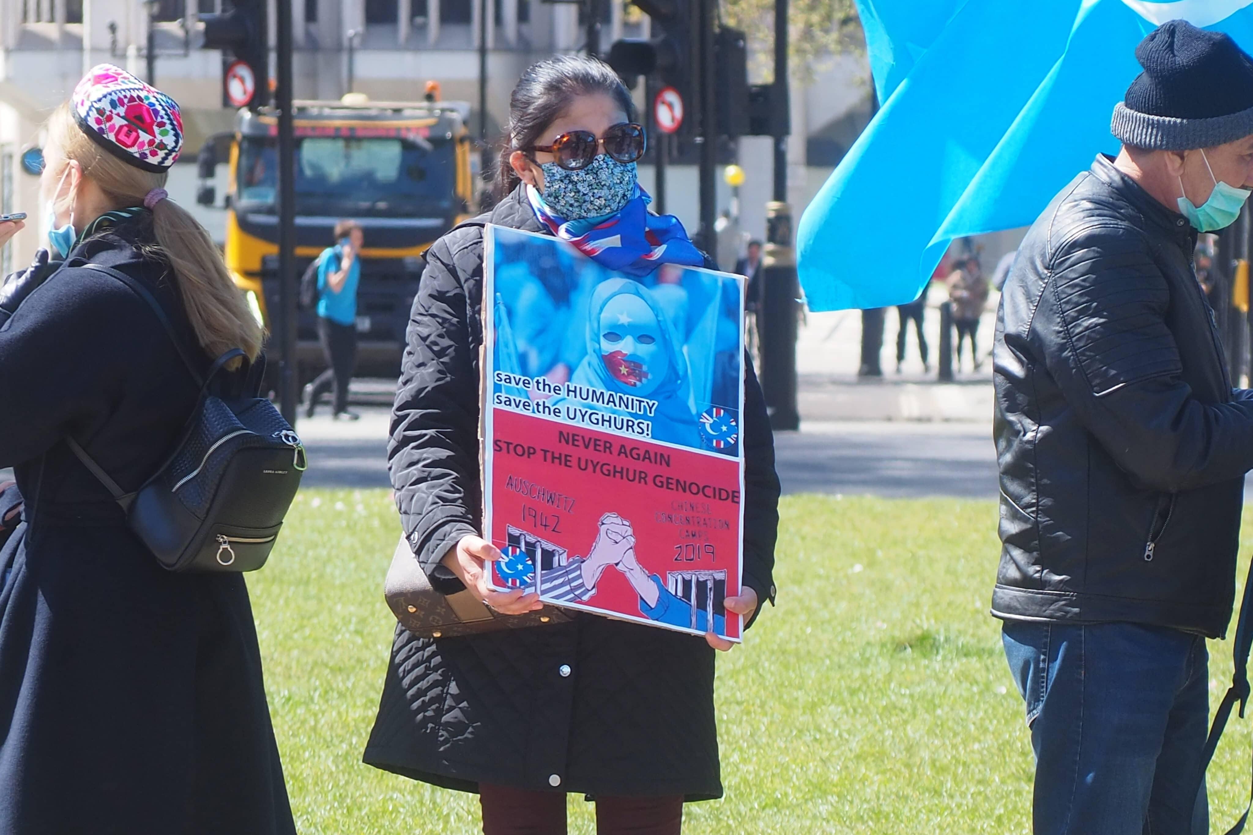 Protesto contra o genocídio de uigures na China