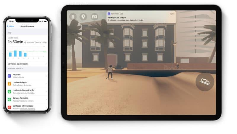 Tempo de Uso no iPhone e no iPad