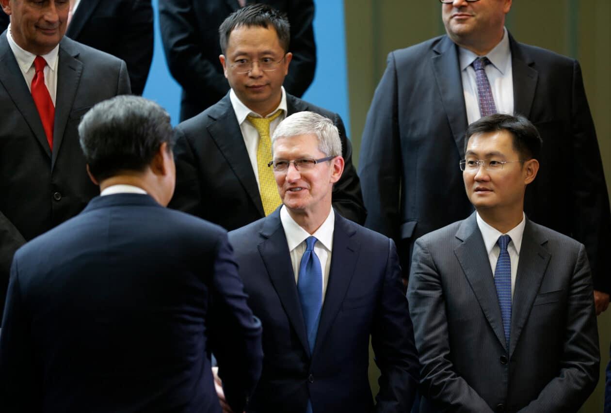 Tim Cook e Xi Jinping