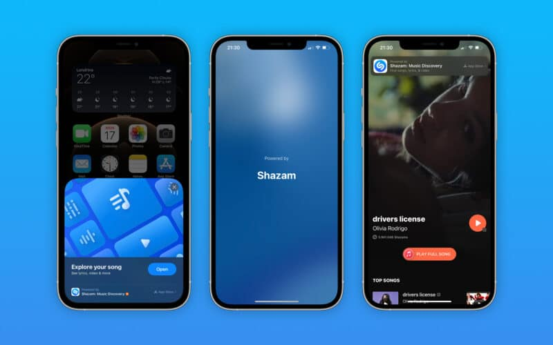 App Clip do Shazam