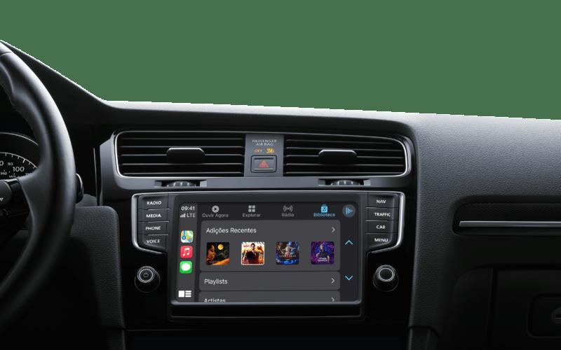 App Música no CarPlay