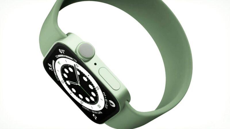 "Possível visual do ""Apple Watch Series 7"""