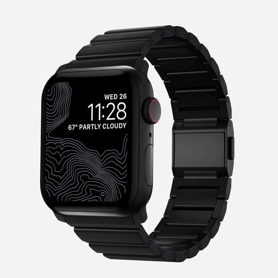 Pulseira de titânio da Nomad para Apple Watch