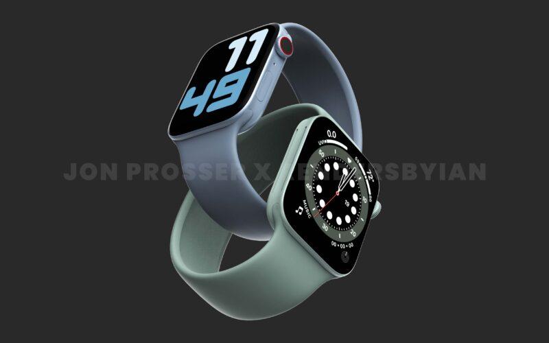 """Renders do suposto """"Apple Watch Series 7"""""""
