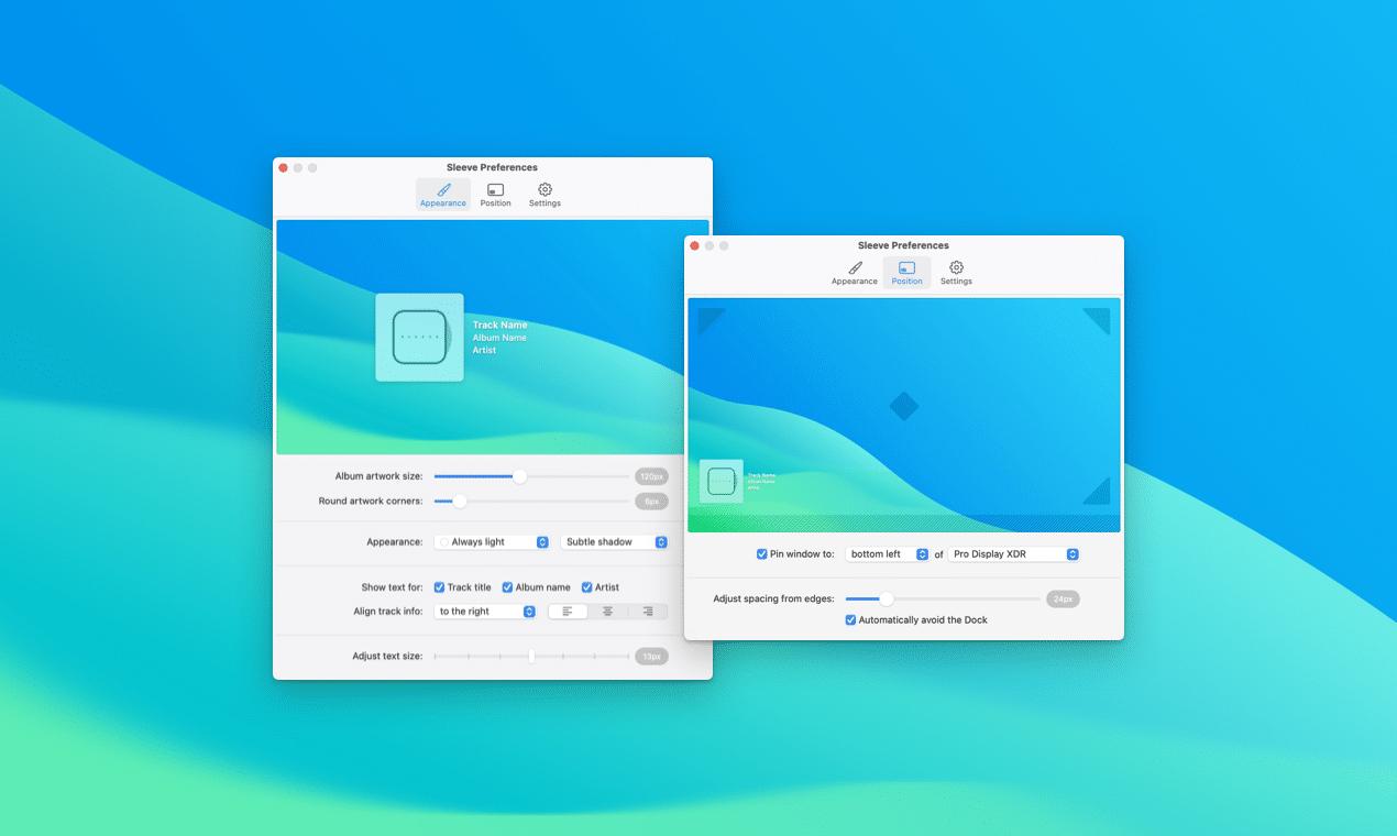 Sleeve, widget de música para macOS