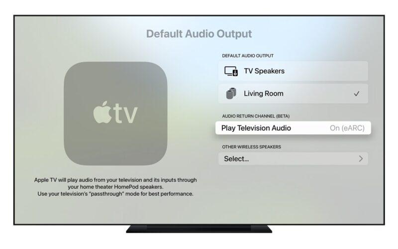 Apple TV com ARC