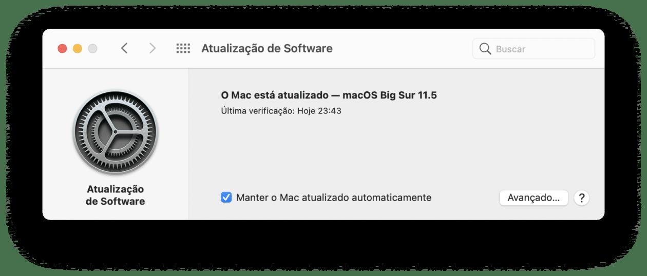 Atualização do macOS