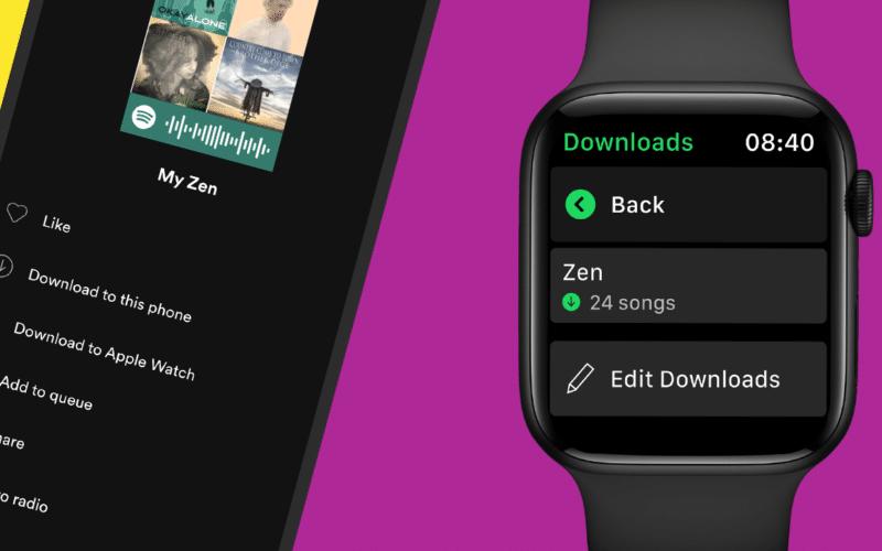 Baixar músicas do Spotify no Apple Watch
