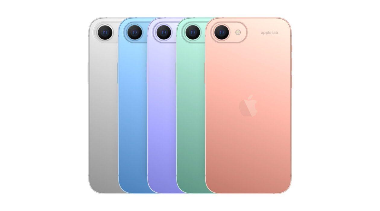 """Conceito: cores do """"iPhone SE 3"""""""
