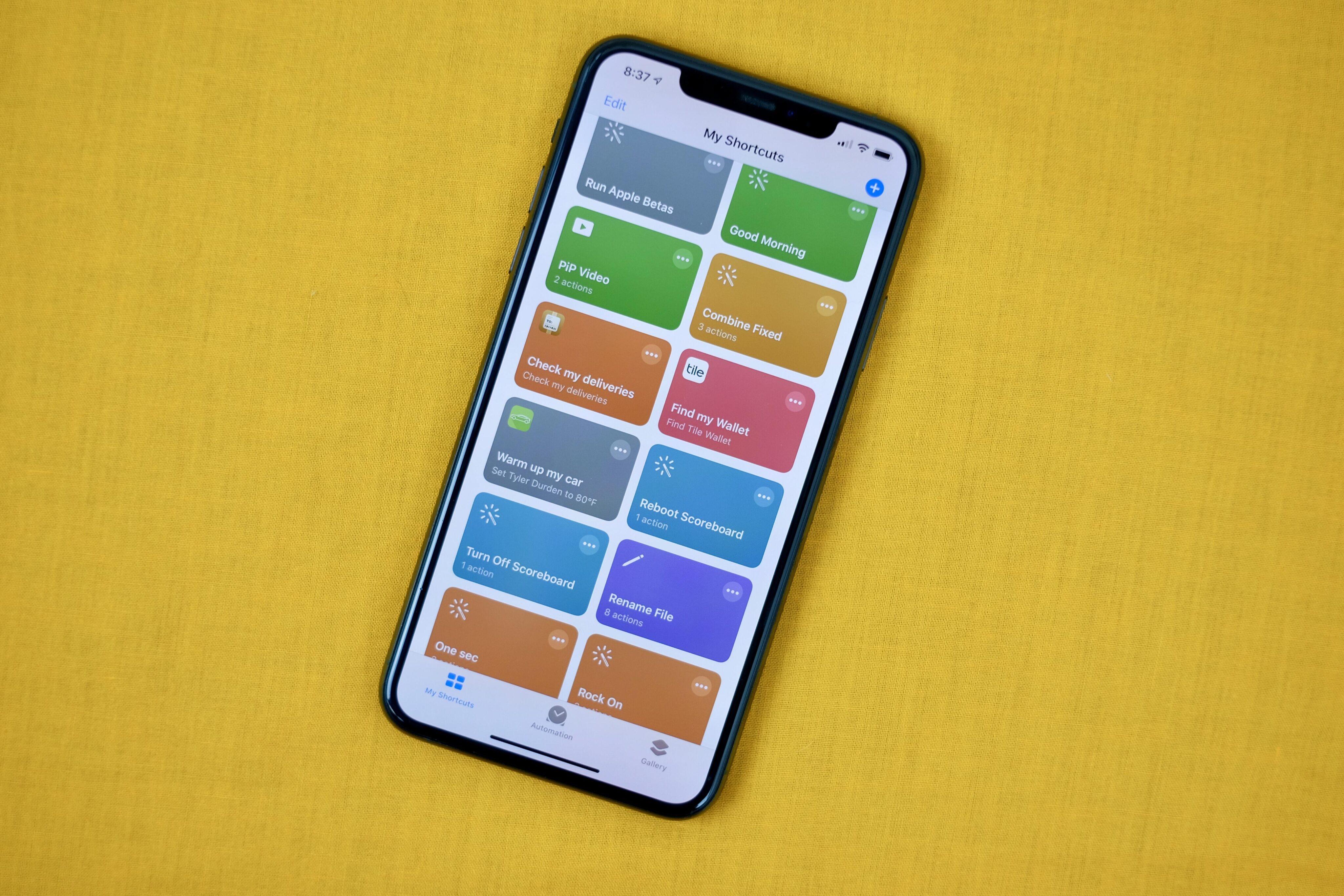 App Atalhos no iPhone