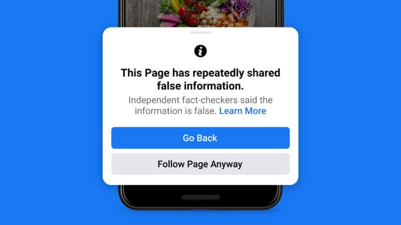 Novas medidas do Facebook contra fake news