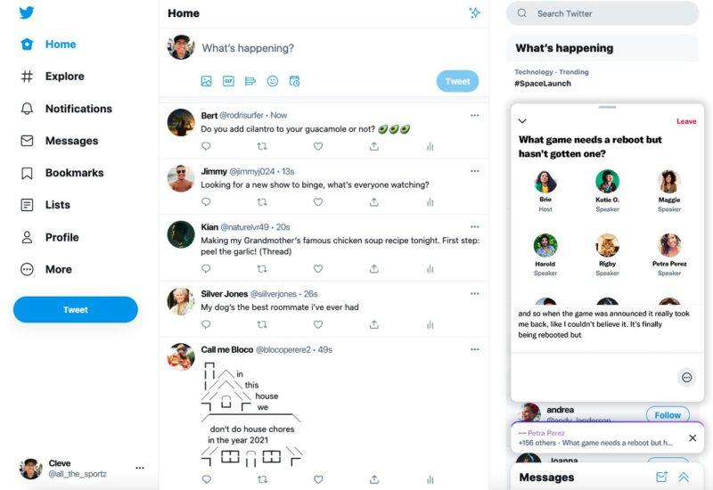 Twitter Spaces para web