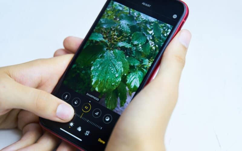 Editando uma foto no iPhone