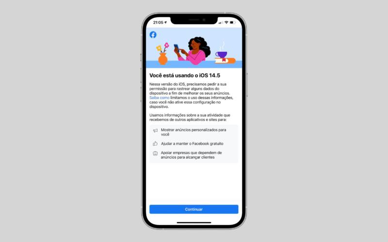 Política antirrastreamento da Apple no app do Facebook