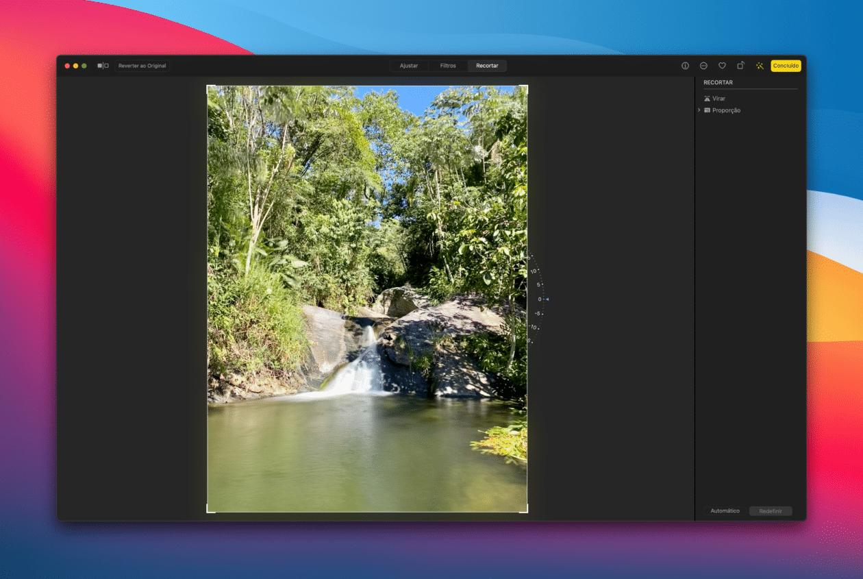 Virando uma foto no Mac