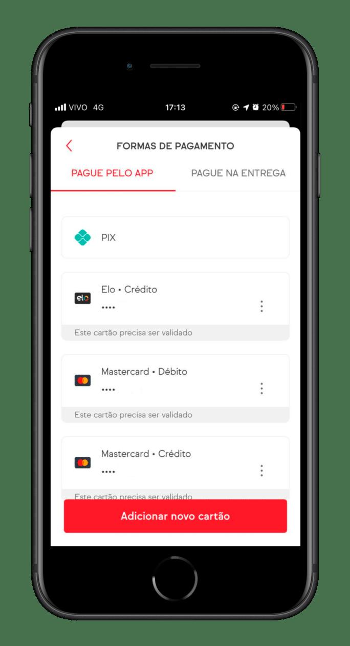 Pix como forma de pagamento no iFood