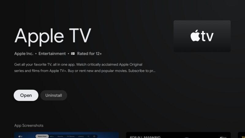 Aplicativo Apple TV para Android TV