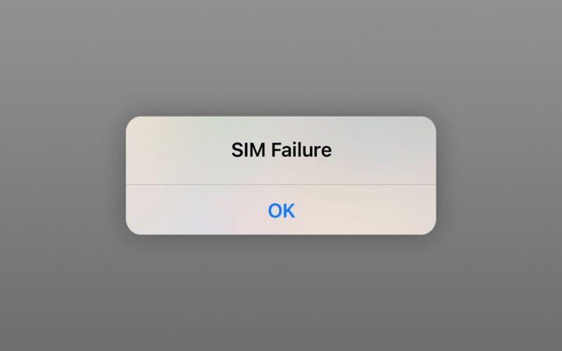 Alerta de falha no SIM