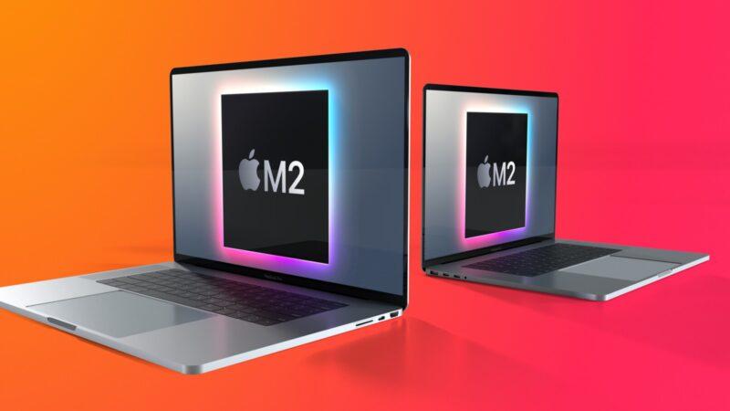 "Render do MacBook Pro com chi ""M2"""