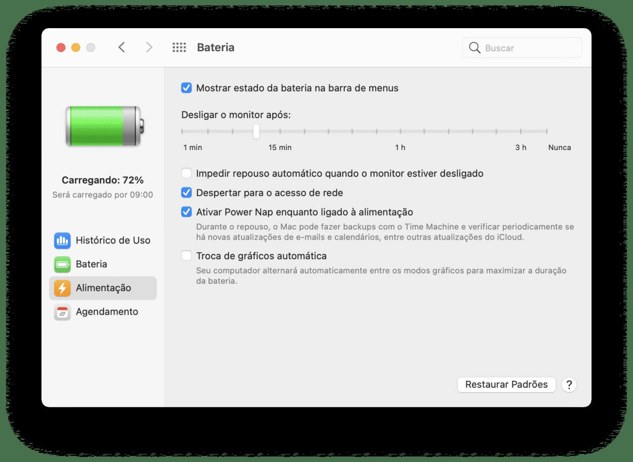 Opção de usar uma GPU mais potente no macOS