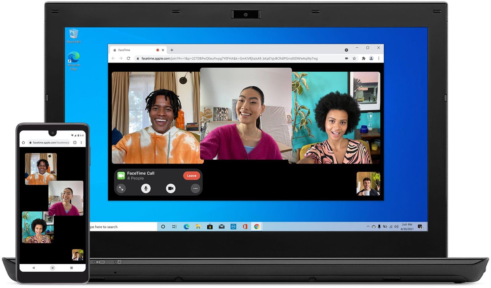 FaceTime no PC com Windows e no Android