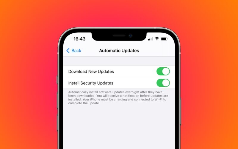 Atualizações de segurança no iOS