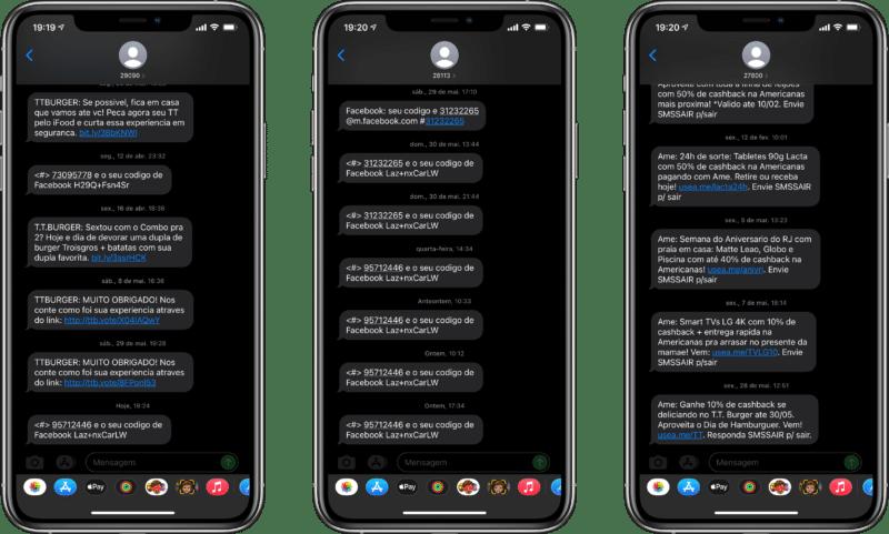 SMS indesejados