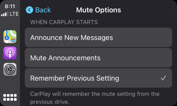 CarPlay no iOS 15