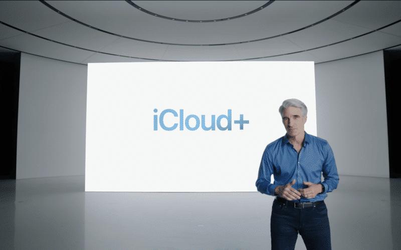 Craig apresentando o iCloud+
