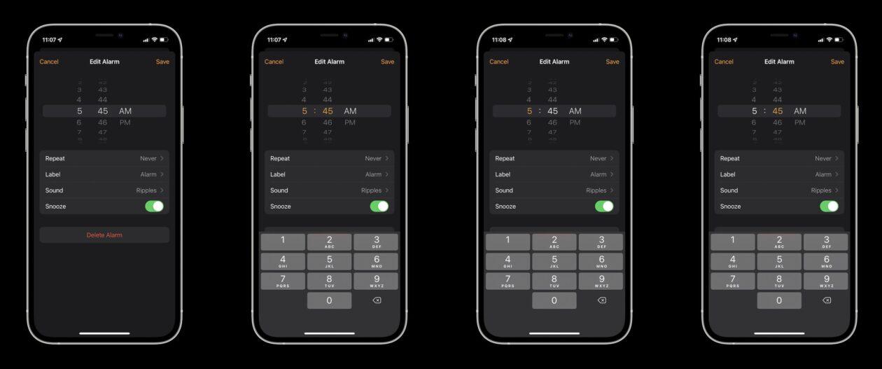 Seletor de roda no iOS 15