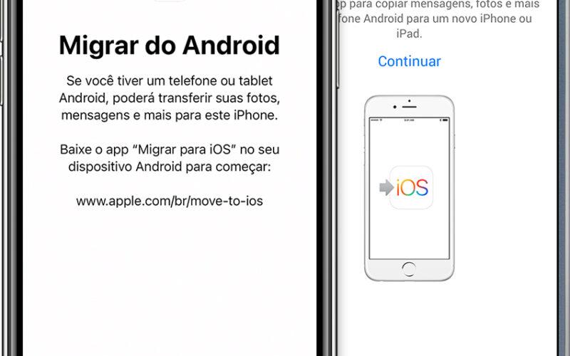 Ferramenta Migrar para iOS (Move to iOS)