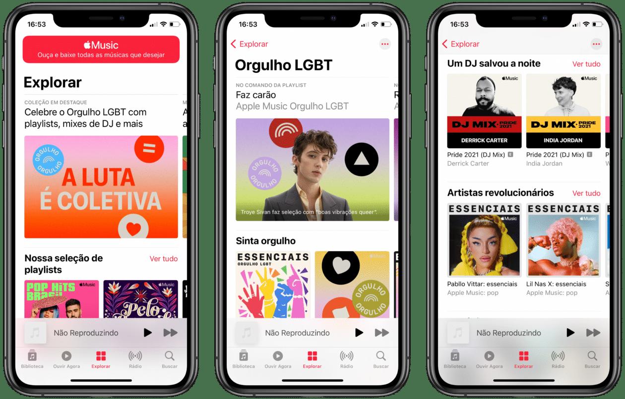 Playlists de orgulho Apple Music