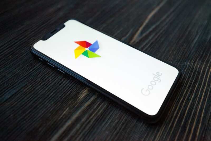 Google Fotos em iPhone