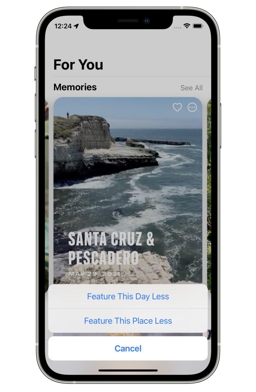 Ocultar dias fotos iOS 15