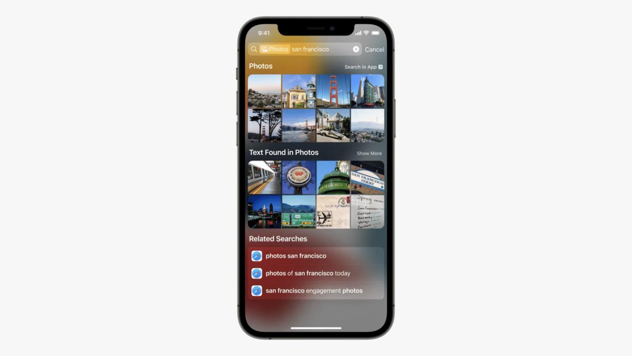 Spotlight no iOS 15