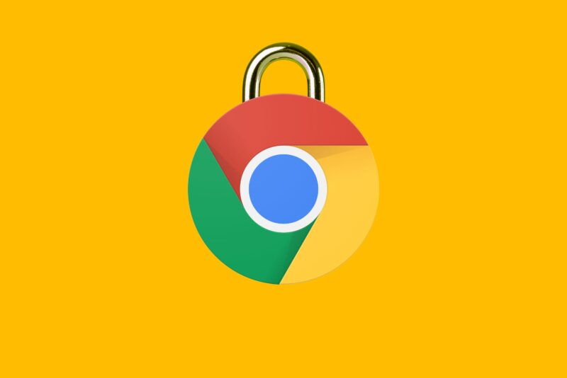Ícone do Google Chrome com cadeado