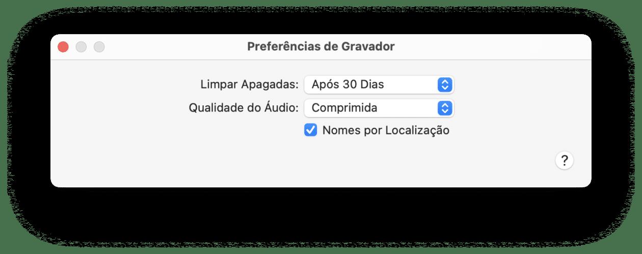 Limpando gravações apagadas no app Gravador do Mac
