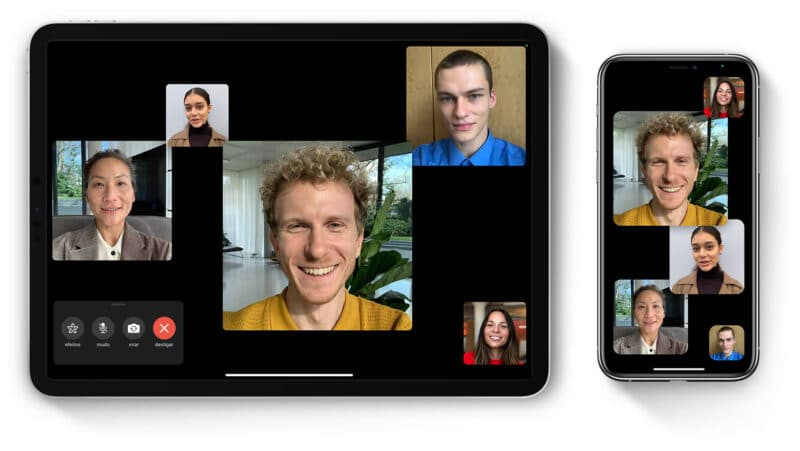 FaceTime em grupo