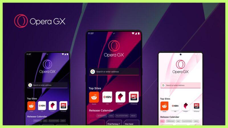 Banner de lançamento do Opera GX Mobile, primeiro navegador mobile para jogos