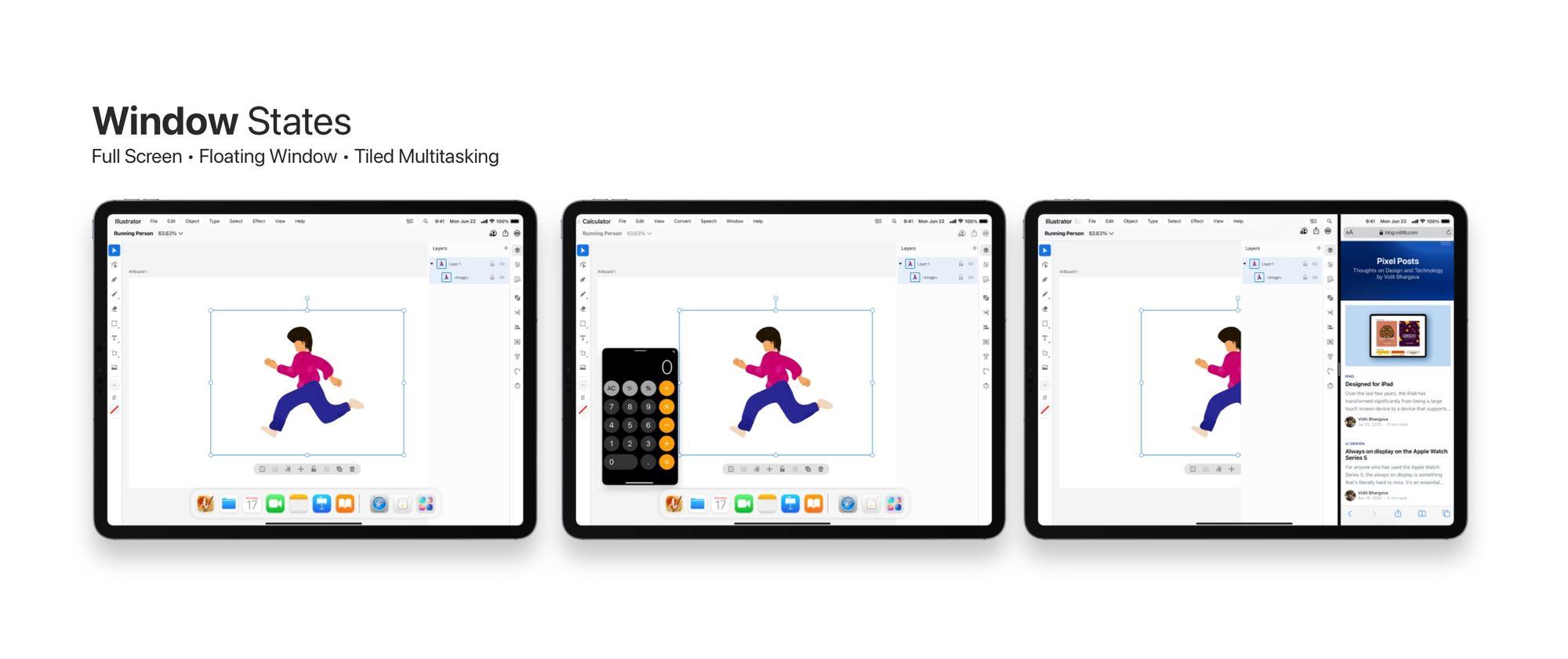 Conceito de barra de menus no iPadOS
