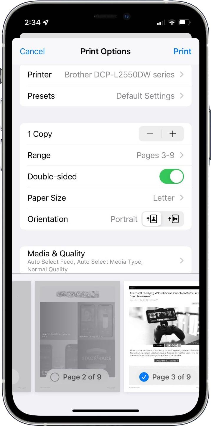 AirPrint no iOS 15